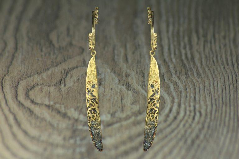 orecchini oro 18k con rodio nero1